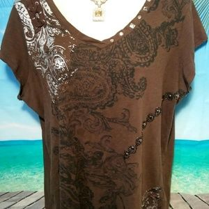 Western look tshirt with detail